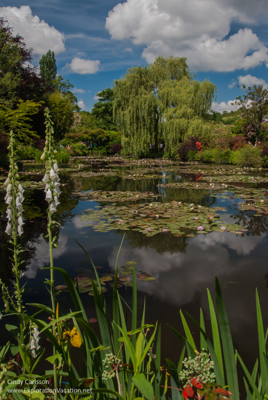 water lily garden Monet's Garden Giverny France - www.explorationvacation.net