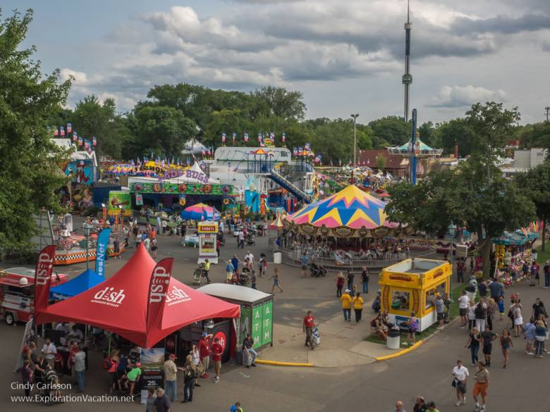 Minnesota State Fair View from the SkyGlider - www.ExplorationVacation.net