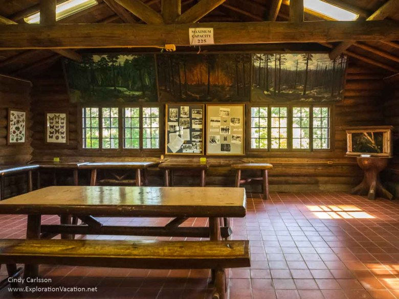 Historic picnic shelter in Scenic State Park in northern Minnesota - www.ExplorationVacation.net