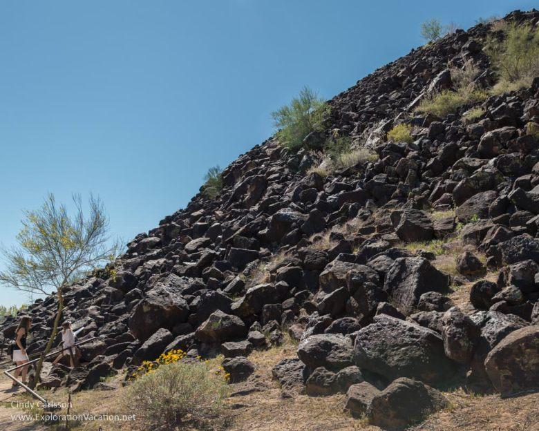 rock hills Deer Valley Petroglyph Preserve protects ancient rock art in Phoenix Arizona USA - ExplorationVacation.net