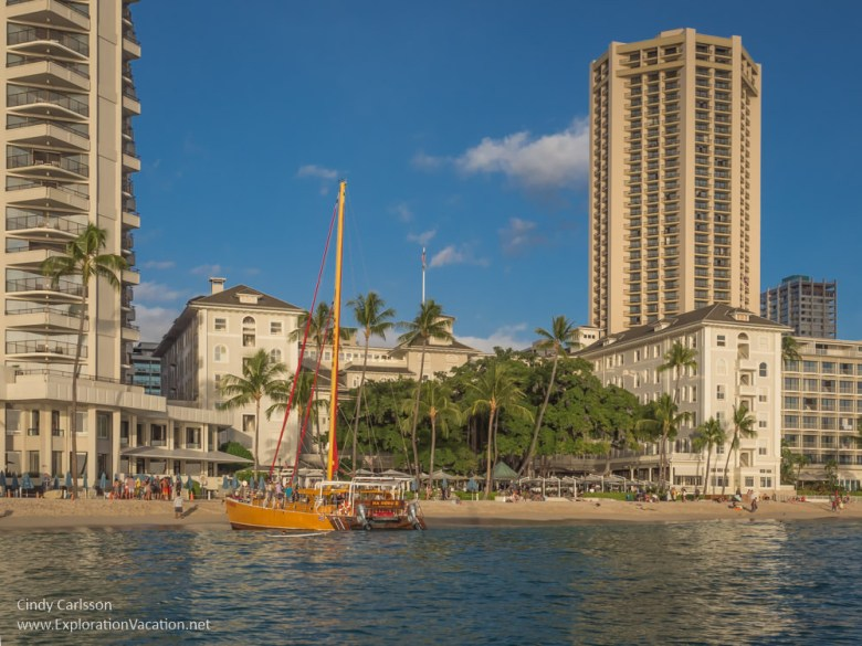 Photo of Moana Surfrider on Waikiki Beach by ExplorationVacation.net