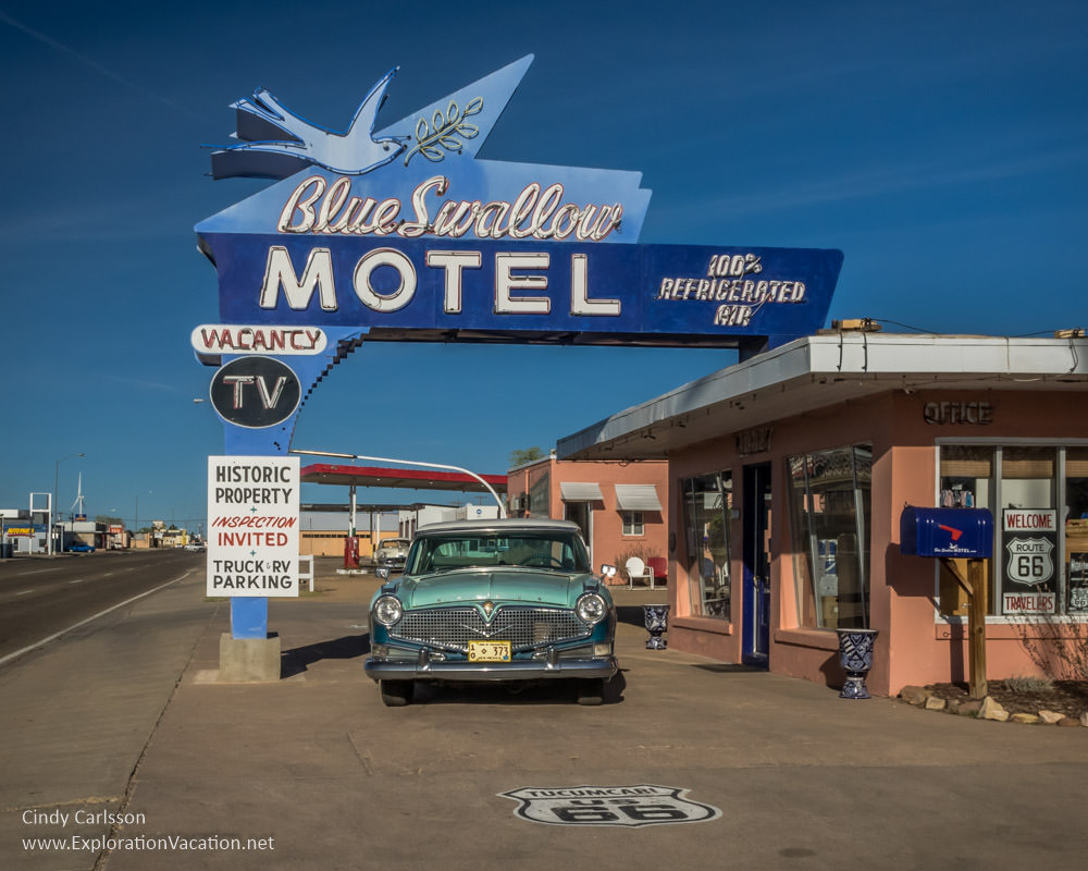 Historic Route 66 in Tucumcari, New Mexico