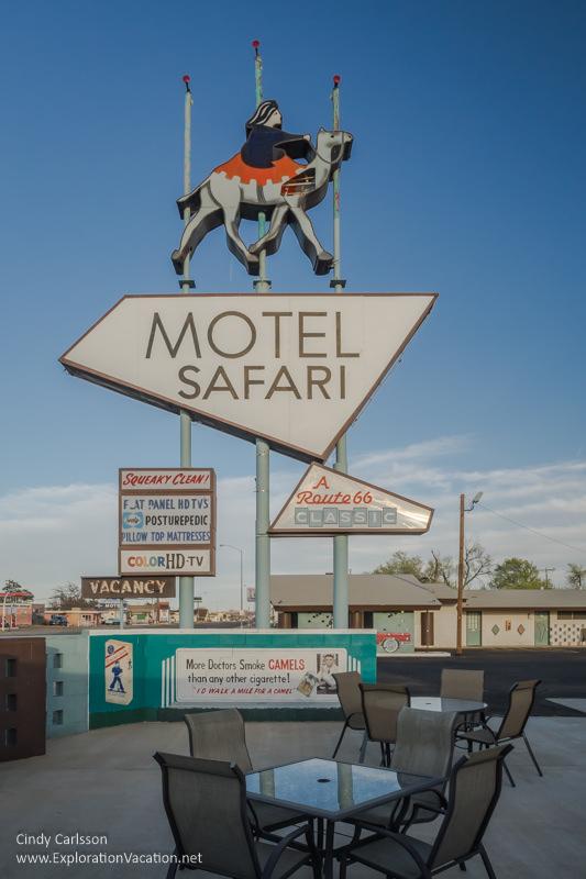 Motel Safari on historic Route 66 in Tucumcari New Mexico - ExplorationVacation.net