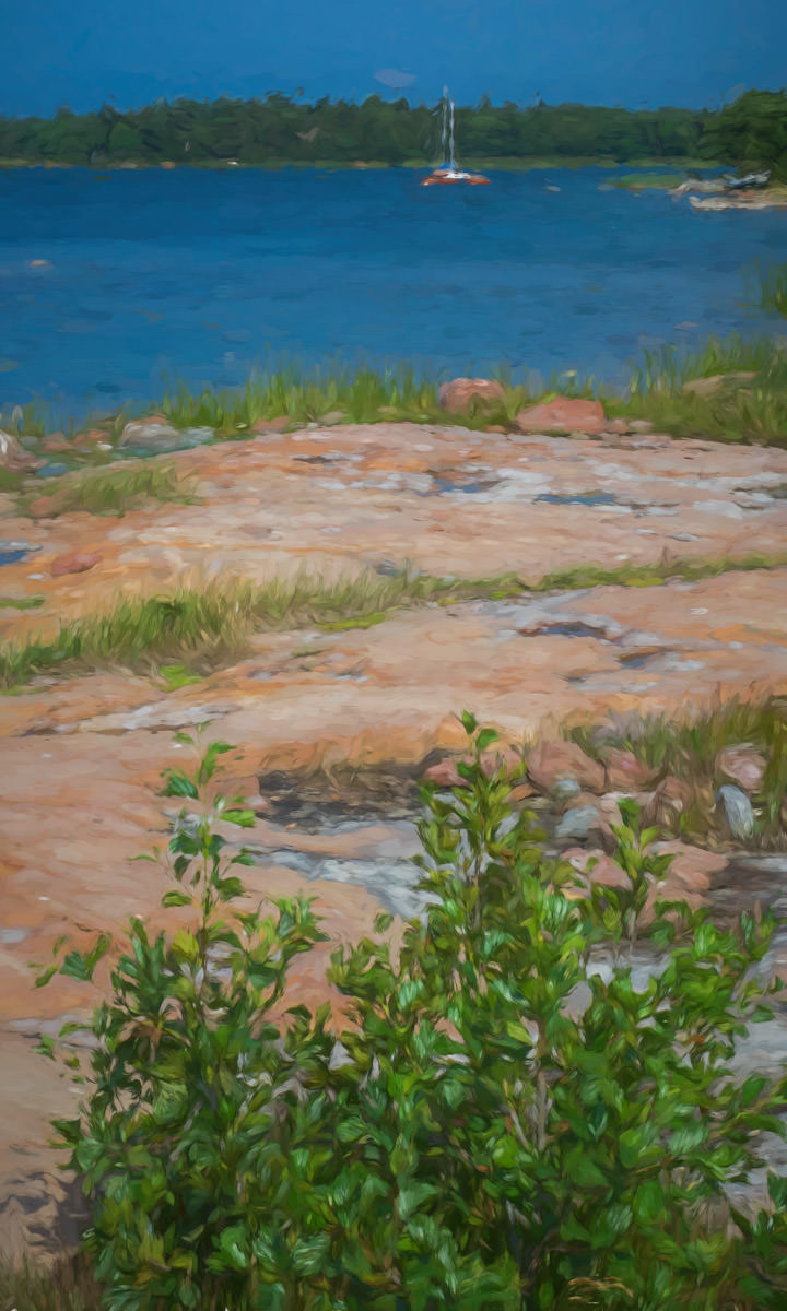 Painting of summer in Finland's Åland Islands - ExplorationVacation #Finland #visitåland #discoverfinland #summervacation #alandislands