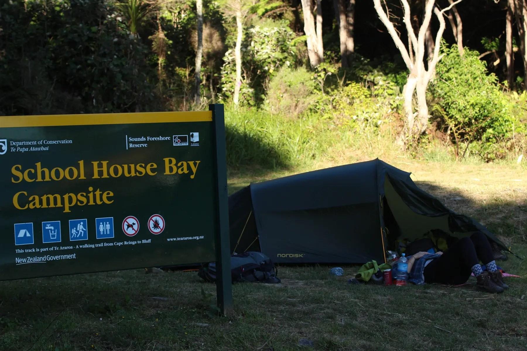 Camping Te Araroa Neuseeland
