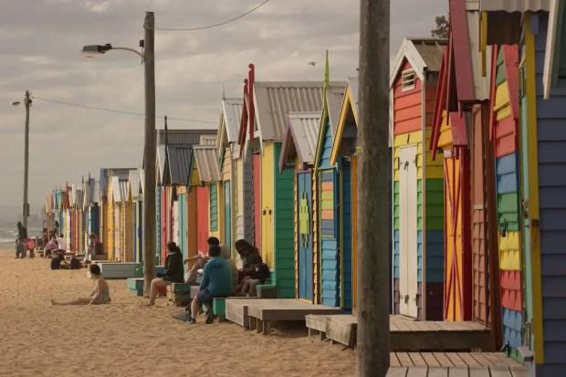 Badeboxen - kostenlose Aktivität Melbourne