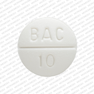 Baclofen_10mg_0832-1024-00, side 1 is BAC score 10,