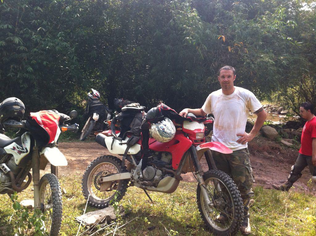 motorbike tour in laos