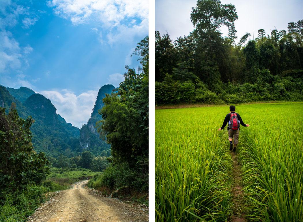 Mountain trek with Tiger Trail in Luang Prabang Laos