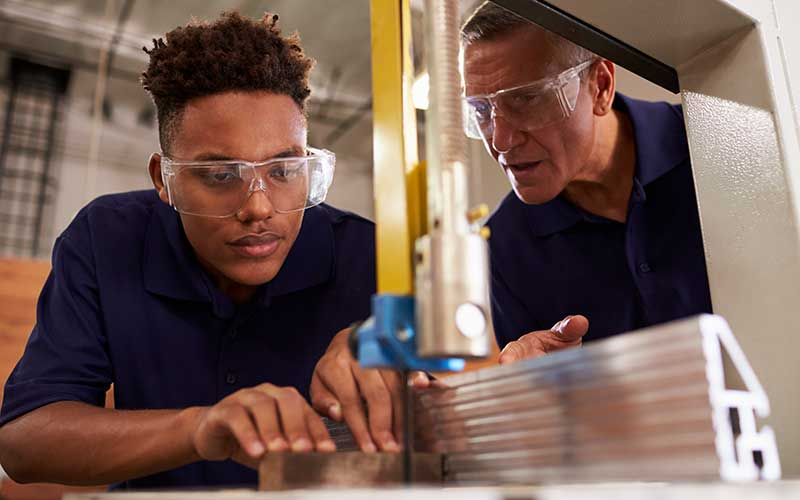 image of youth attending a trade school