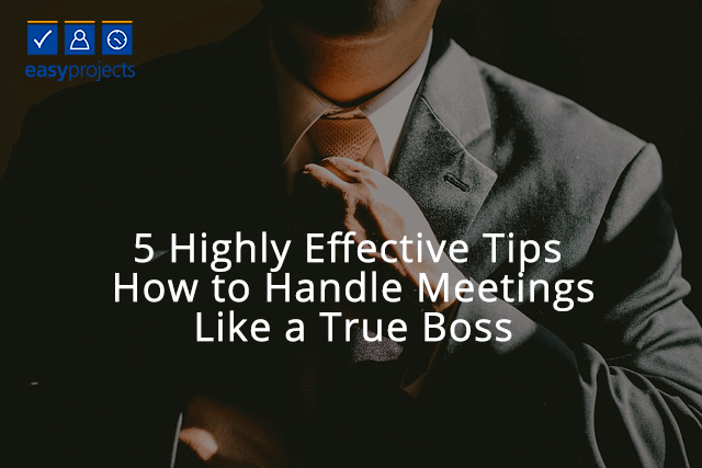 how to handle meetings