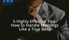 how to handle meetings