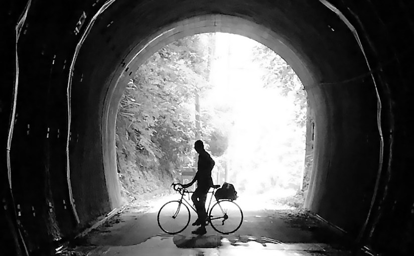Silhouette of me on my bike