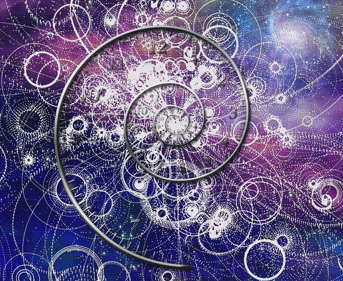 Spiral time and quantum particles in space Elements of this imag