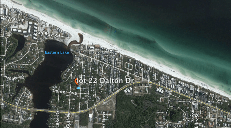 Dalton Drive Lot for Sale – South of 30A at Eastern Lake