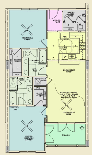 Redfish Village Unit A Floor Plans