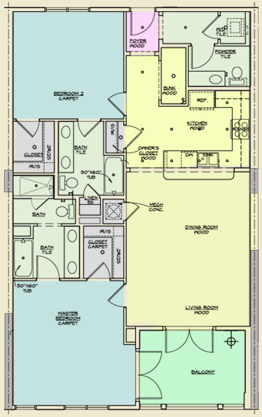 Redfish Village Unit B Floor Plans