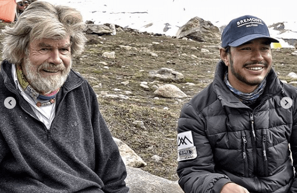 Reinhold Messner and Nirmal Purja
