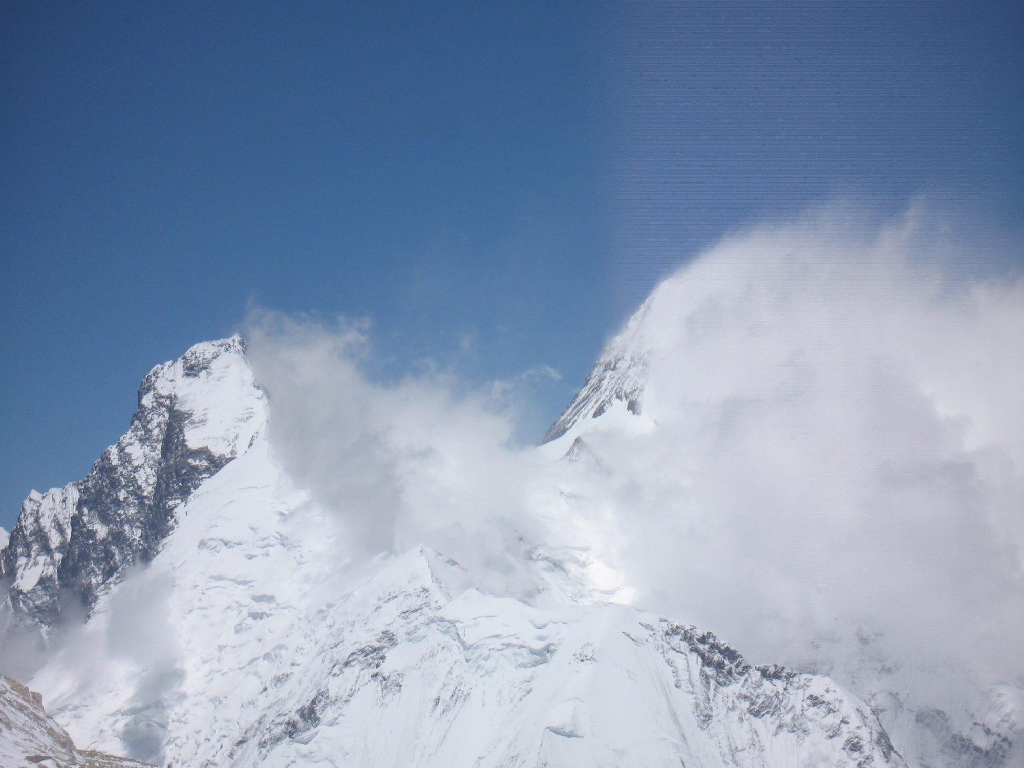 Everest, summit, Lhotse, from Makalu