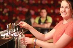 Bar-tending at Woodford Folk Festival