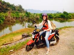 Biking around Laos