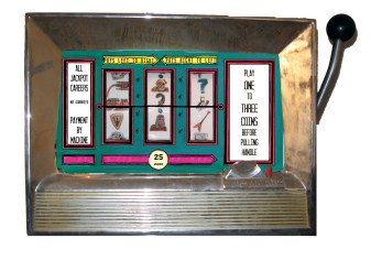 """Lucky Livelyhood"" slot machine by Sarah Hurwitz"