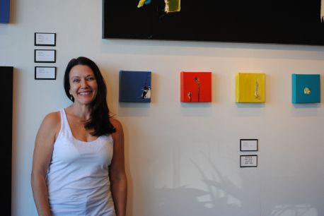 Denise Fleisch shows her abstract works at Lotus Contemporary on Roosevelt Row.