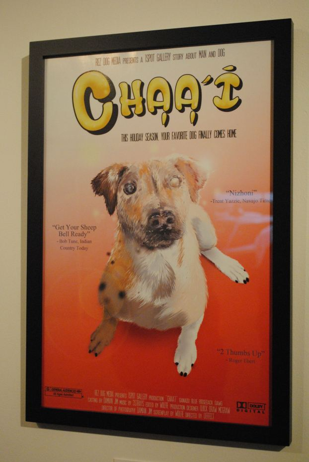 At 1Spot Gallery, the assignment was to create indigenous versions of iconic movie posters, and Damian Jim came up with this wry takeoff on Benji, featuring a roaming sheep-herding dog.