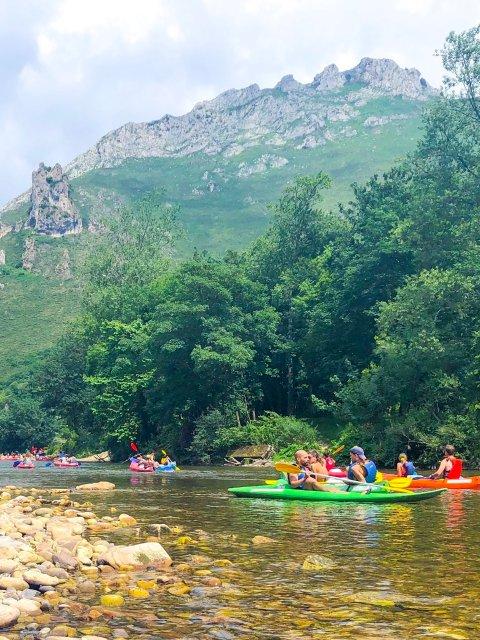 Canoeing in Rio Sella