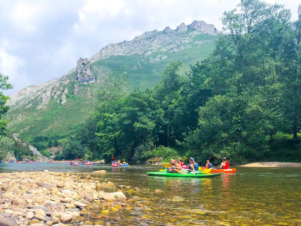 Canoeing in Rio Sella