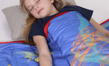 Weighted Blanket and Young Girl