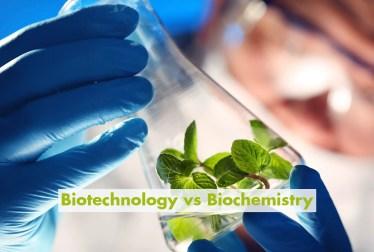 Biotechnology vs Biochemistry