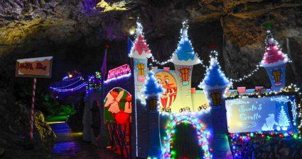 Santa's Grotto, Poole's Cavern, Buxton 2017