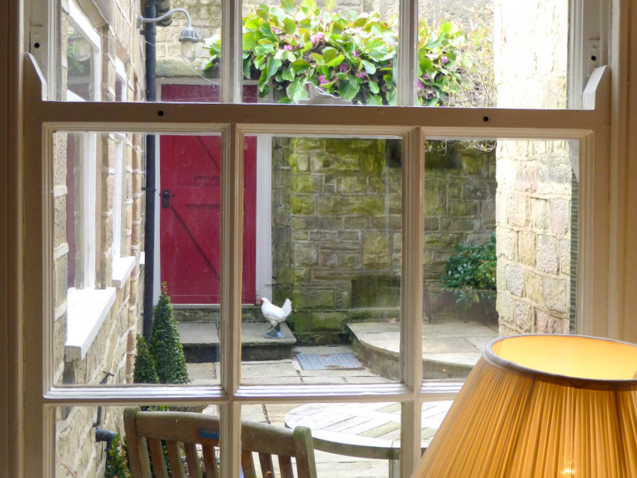 Secluded entrance at No.7 The Square, Buxton