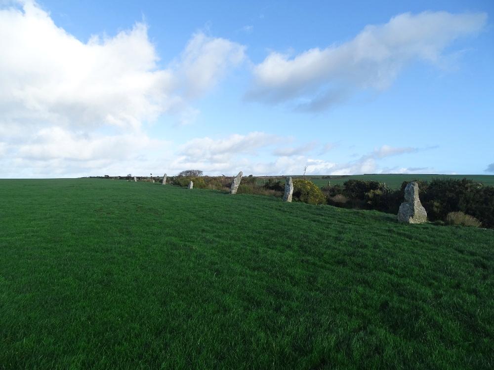 The Nine Maidens Stone Row