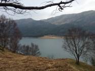 Ardbeg ruins on far side of Loch