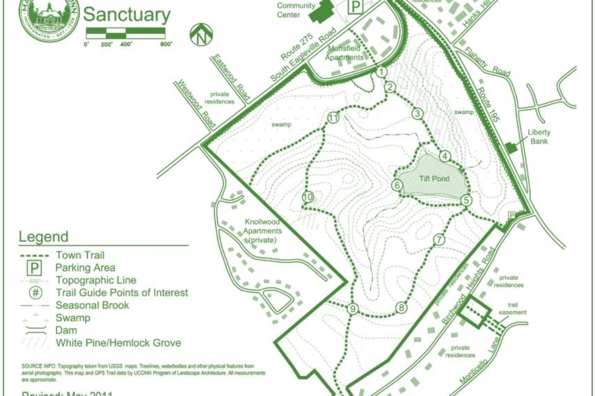 Albert Moss Sanctuary Trail Map