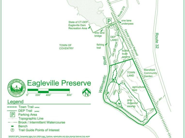 Eagleville Preserve Trail Map