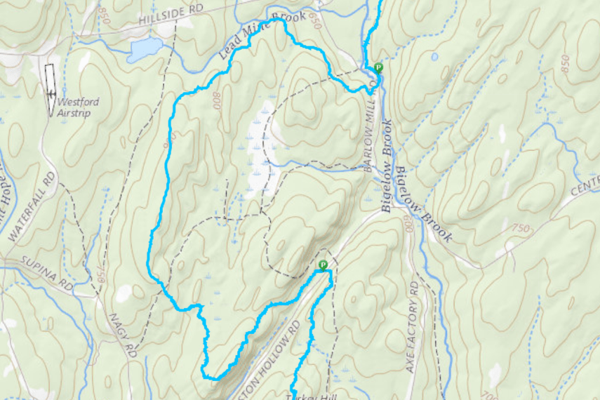 Nipmuck Boston Hollow Trail Map