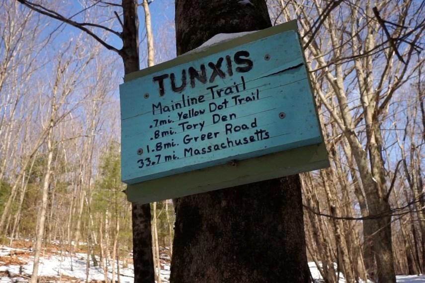 Tunxis Start Sign