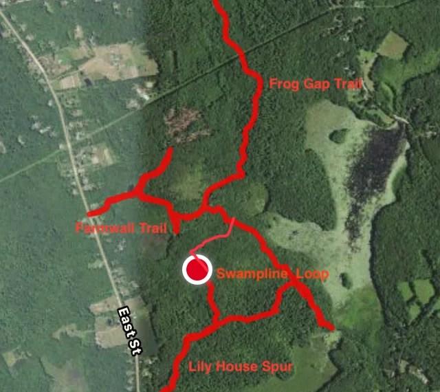 Bishop Swamp Named Trail Map