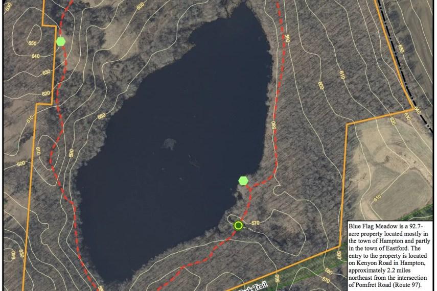 Blue Flag Meadow Trail Map