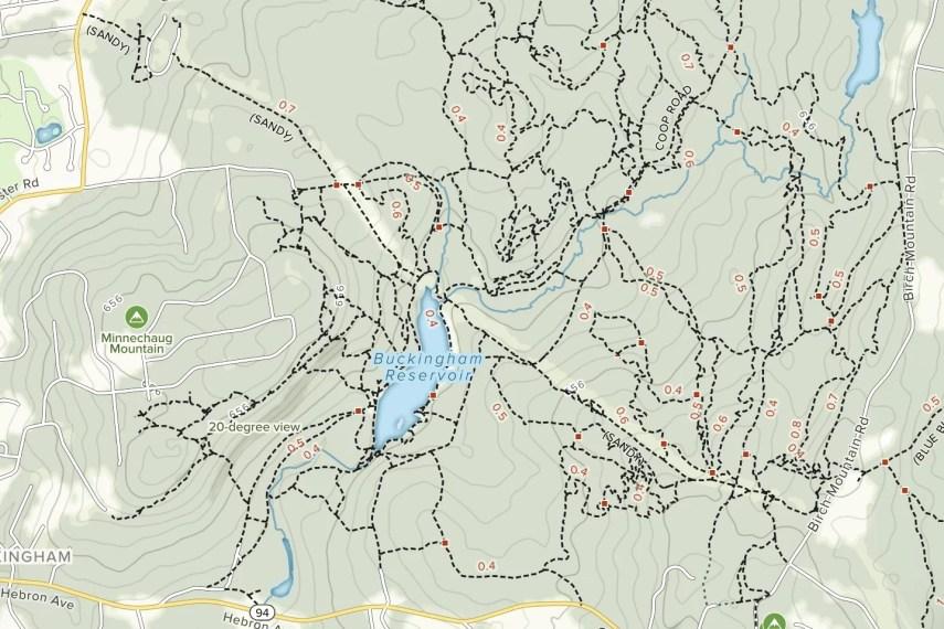 Buckingham Reservoir Trail Map
