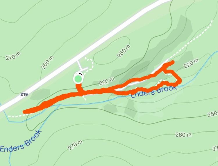 Enders Falls Trail Map