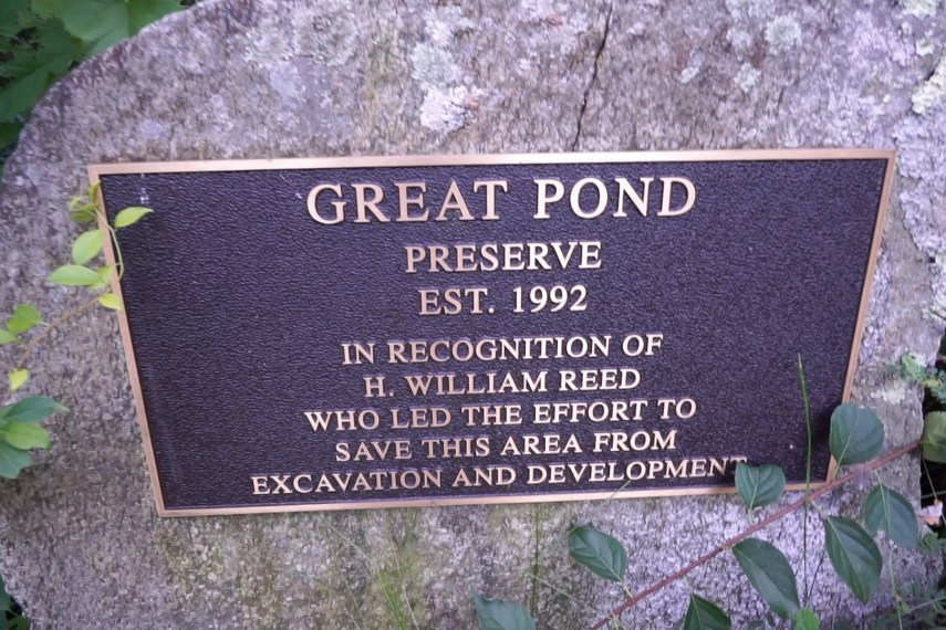 Great Pond Plaque