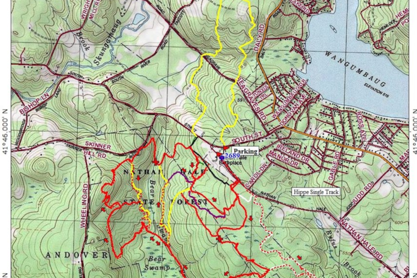 Nathan Hale State Forest Trail Map