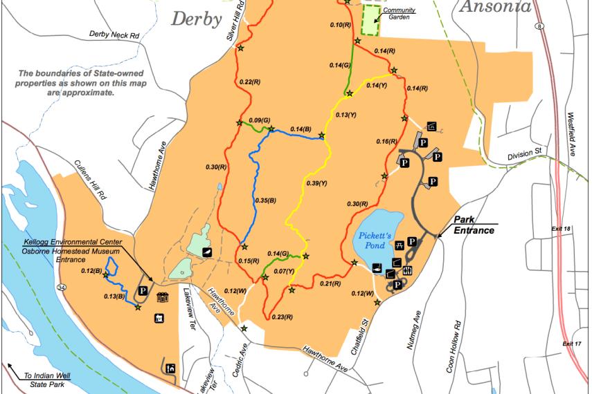 Osbourndale State Park Trail Map