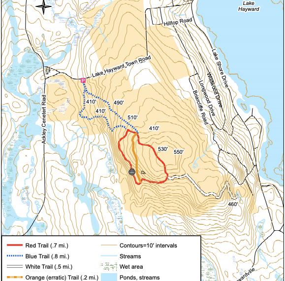 Shugrue Reserve Trail Map