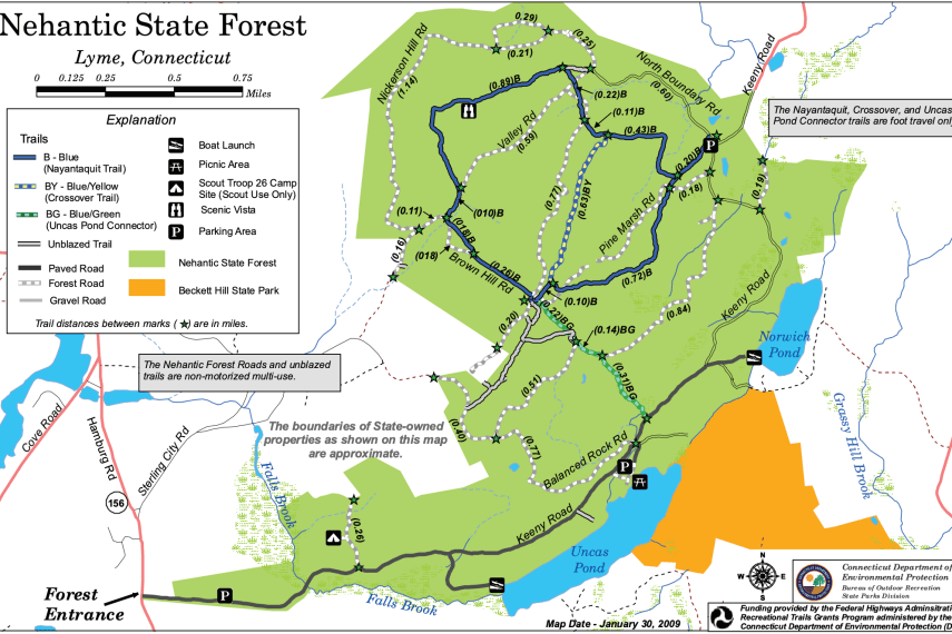 Nayantaquit Trail Map
