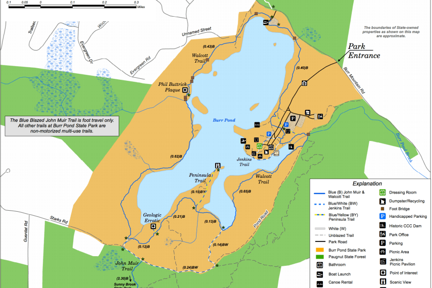 Burr Pond State Park Trail Map